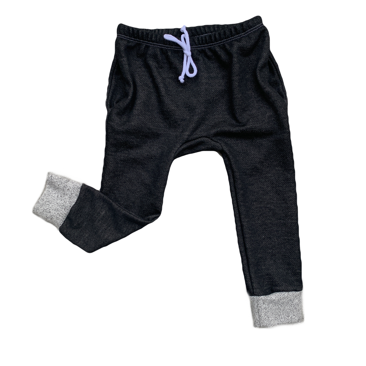 Black French Terry Gusset Pocket Joggers