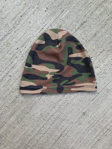 Child Muted Camo Beanie