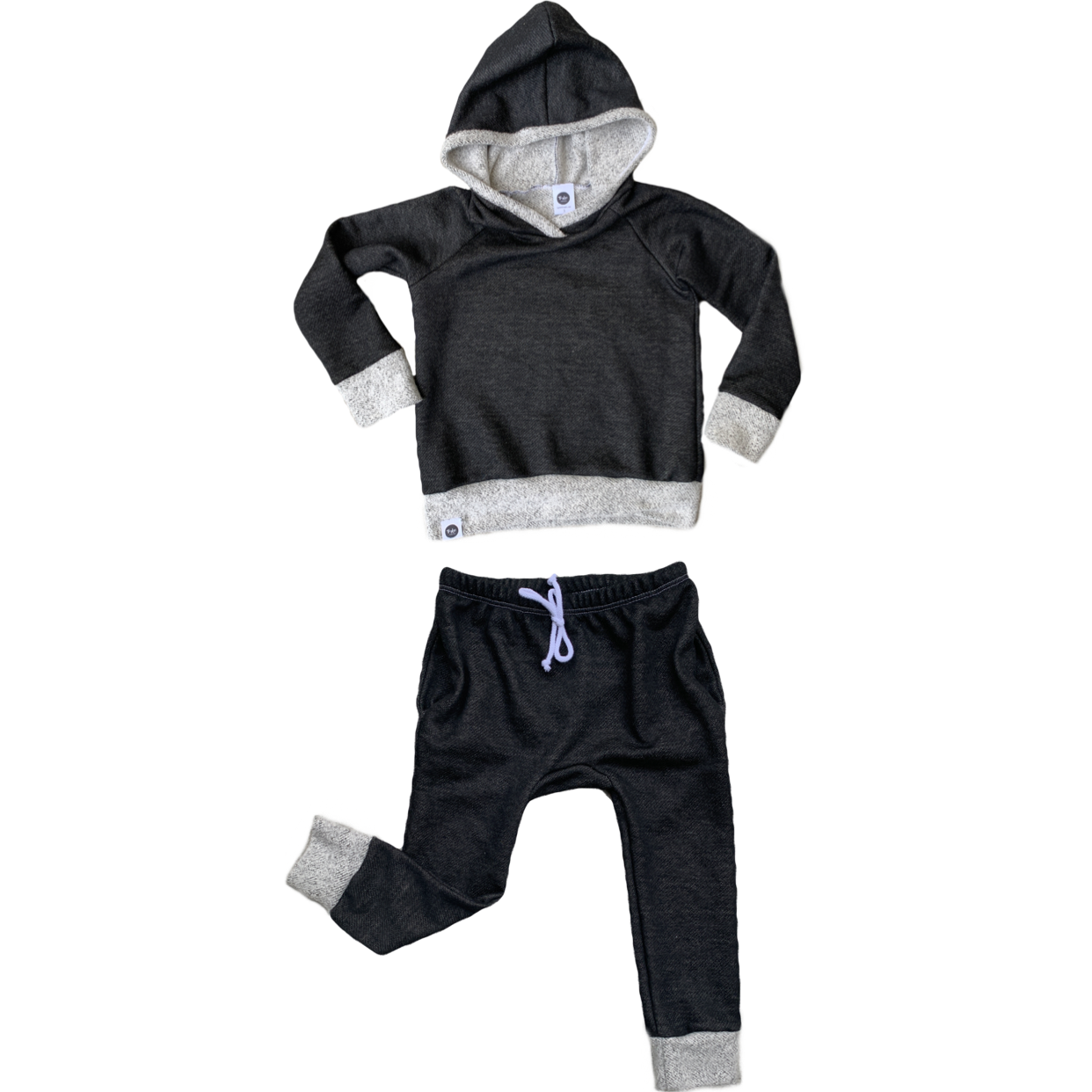 Black French Terry Jogger Set