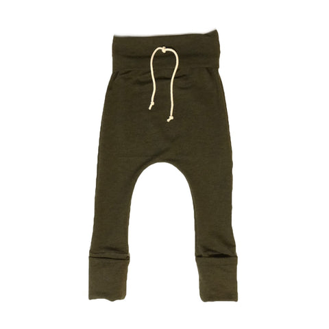 Pine Forest Grow With Me Bamboo Harem Pants
