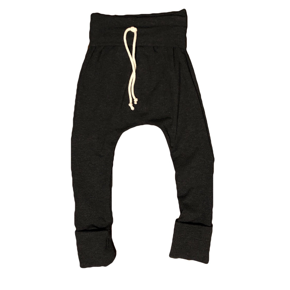 Dark Charcoal Grow With Me Bamboo Harem Pants