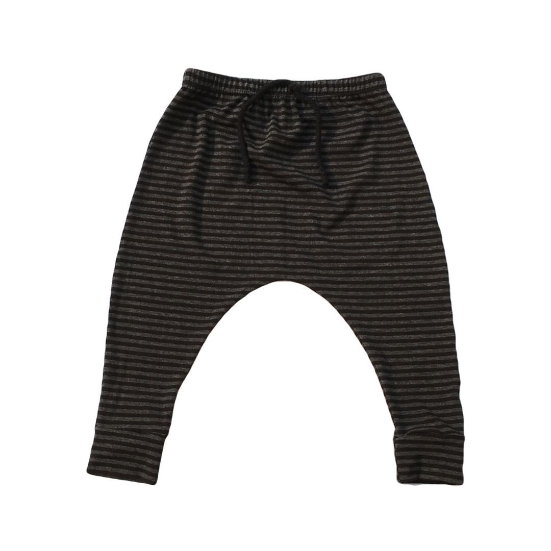 Bamboo Black Charcoal Stripe Harems