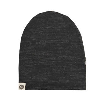 Sweater Knit Speckled Charcoal Beanie