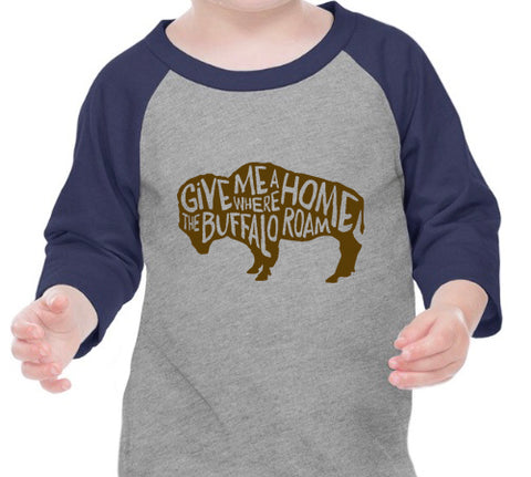 Navy and Brown Buffalo Raglan