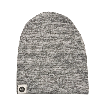 Sweater Knit Speckled Grey Beanie