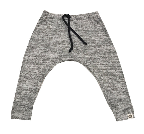 Sweater Knit Speckled Grey Harems