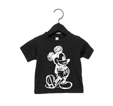 Black Mickey Mouse Tee