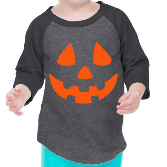 Pumpkin Face Raglan Top