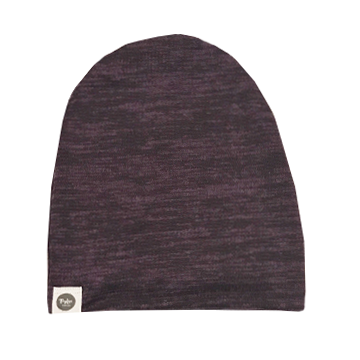 Sweater Knit Speckled Eggplant Beanie