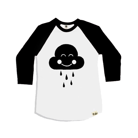 Cloudy Black Raglan