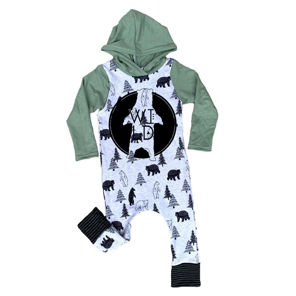 Wild Bears Into the Woods Romper