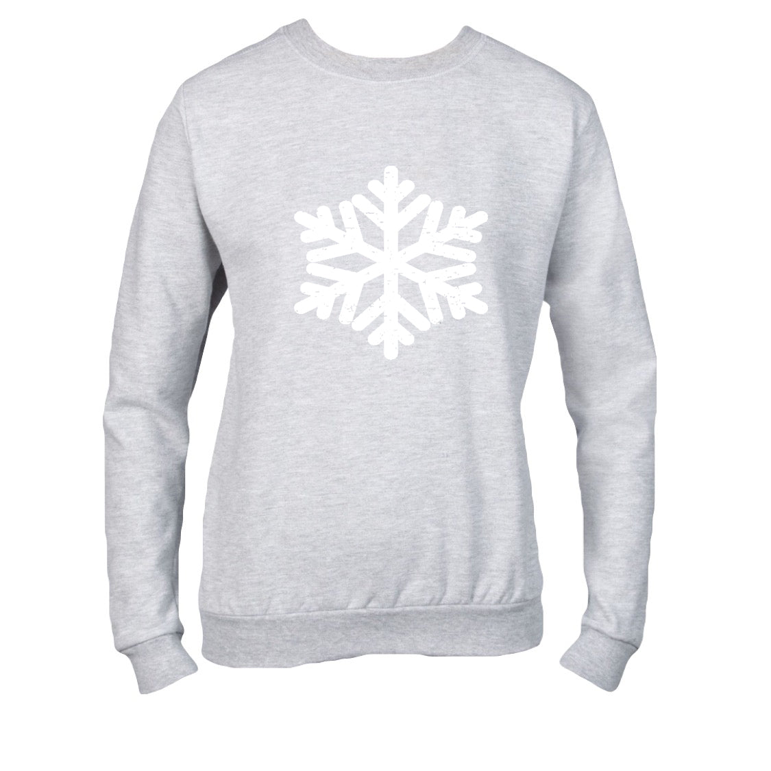 Adult Unisex Snowy Day Heathered Grey Sweater