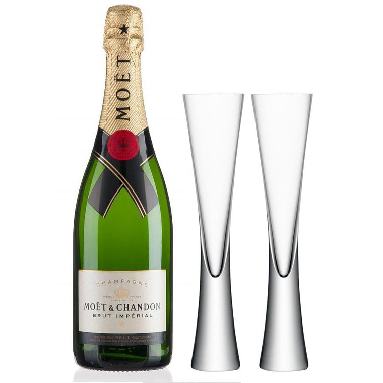 Moet and Chandon Brut 75cl & LSA Moya Flutes Gift Set
