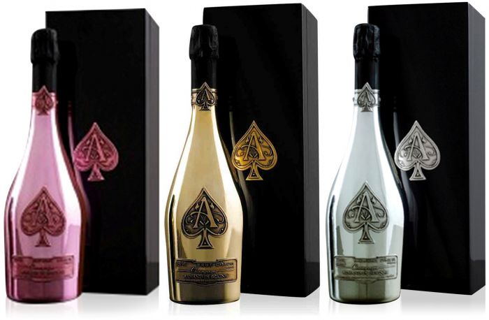 Armand de Brignac Ace of Spades Champagne Collection 75cl: Brut Gold, Rosé & Blanc de Blanc