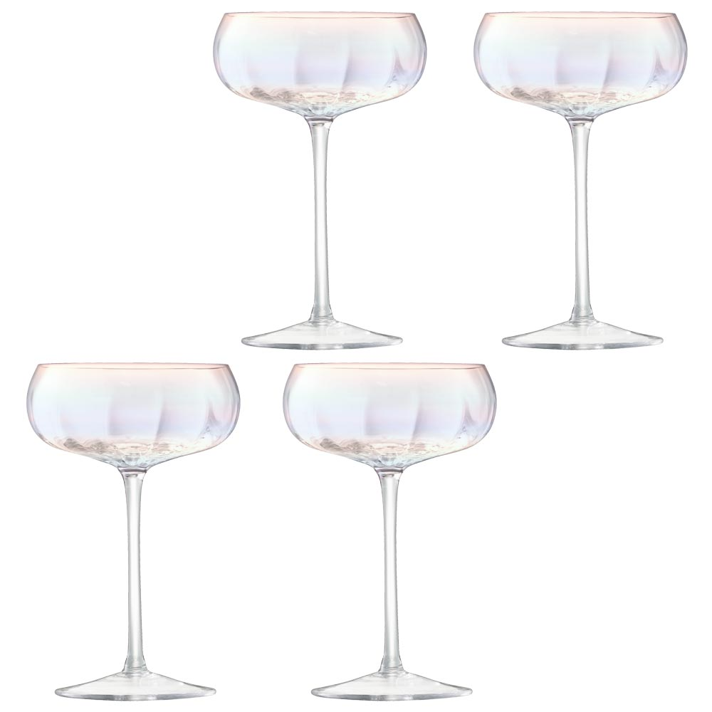 LSA Pearl Champagne Saucer Set Of 4