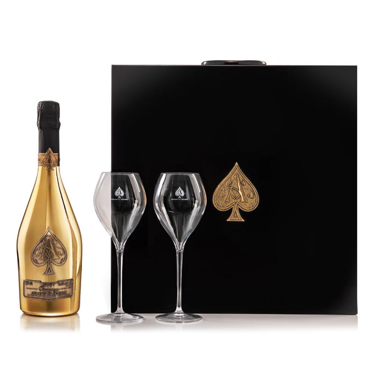 Armand de Brignac Ace of Spades Brut Gold 75cl & Flutes