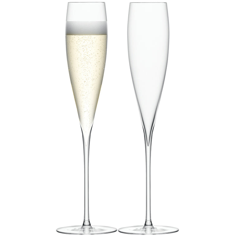 LSA Savoy Clear Champagne Flutes 200ml