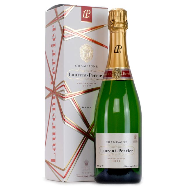 Laurent Perrier La Cuvee Brut Champagne in Ribbon Gift Box 75cl.