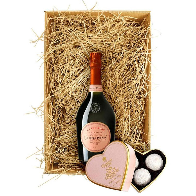 Laurent Perrier Rosé 75cl with Charbonnel et Walker Truffles