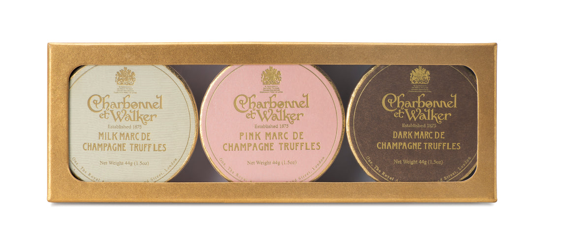 Charbonnel & Walker Marc de Champagne Gold Gift Set  - 132g