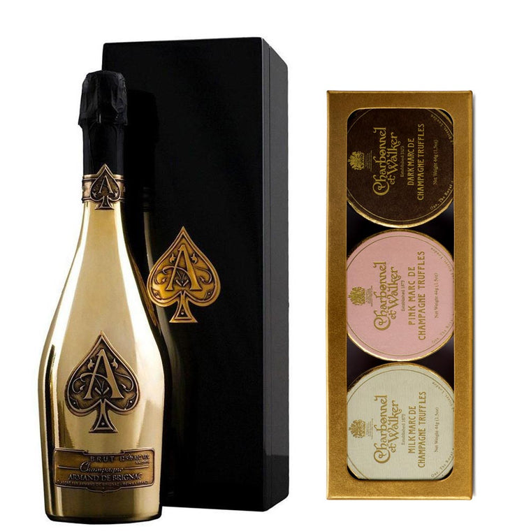 Armand de Brignac Ace of Spades Brut Gold 75cl & Mini Sea Salt Caramel Truffles