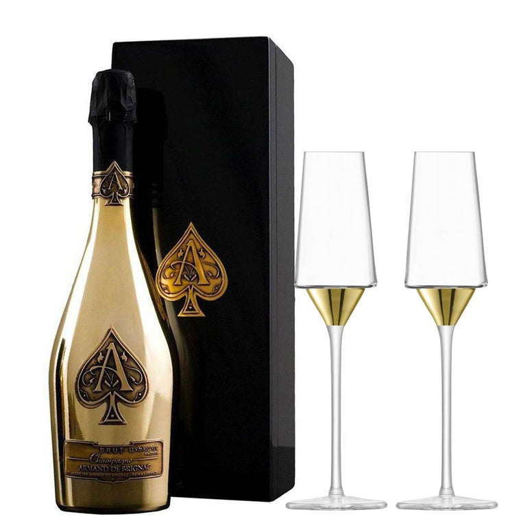 Armand de Brignac Ace of Spades Brut Gold 75cl & LSA Space Flutes