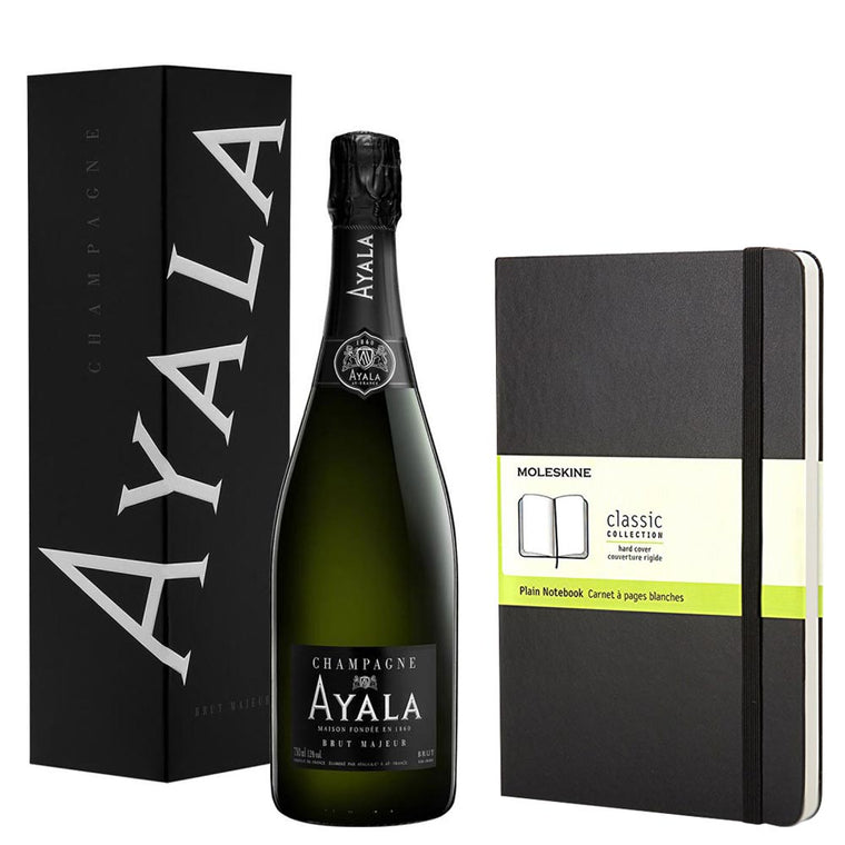 Ayala Brut Majeur Champagne NV 75cl. & Moleskine Classic Notebook