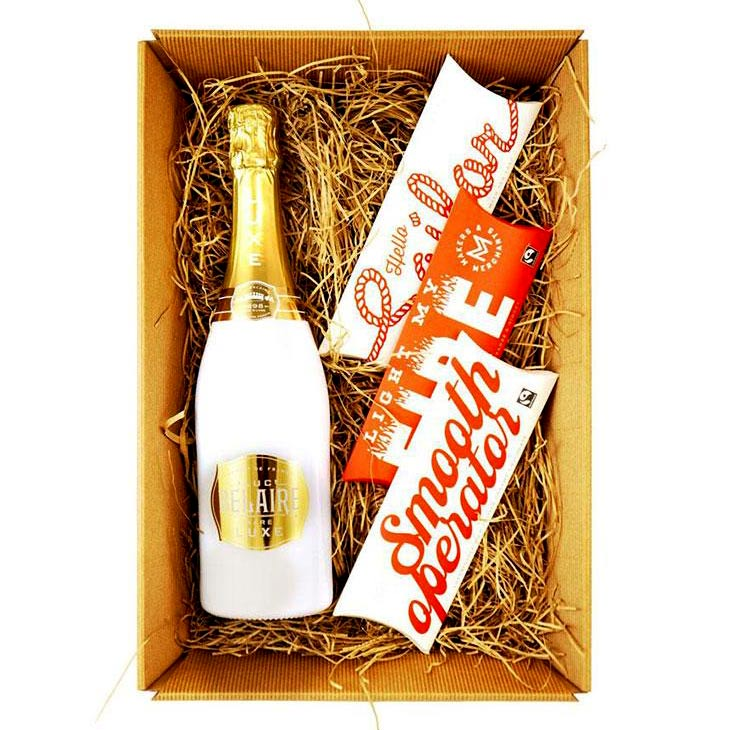 Luc Belaire Luxe Sparkling Wine and Makers & Merchants Chocolates Gift