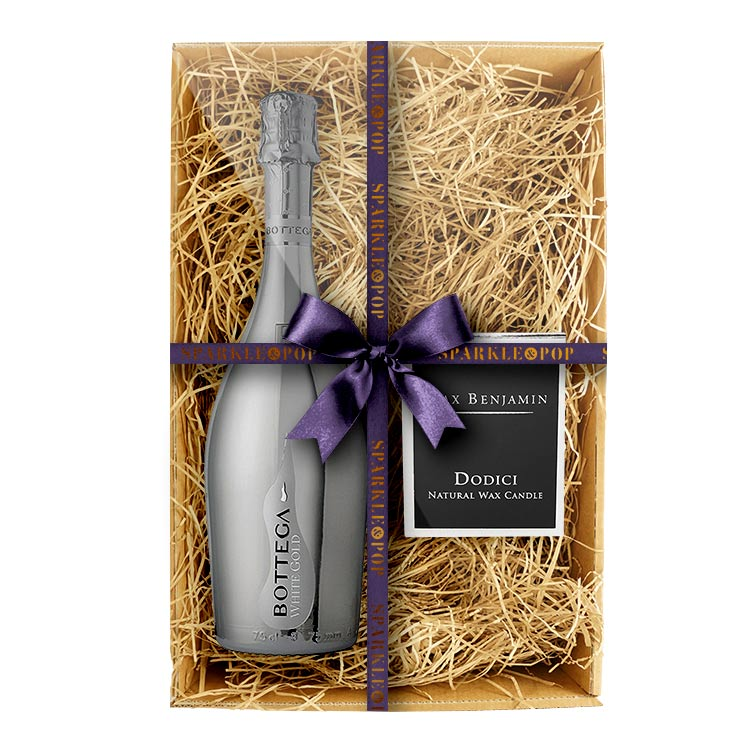 Bottega White Gold 75cl & Max Benjamin's Dodici Candle