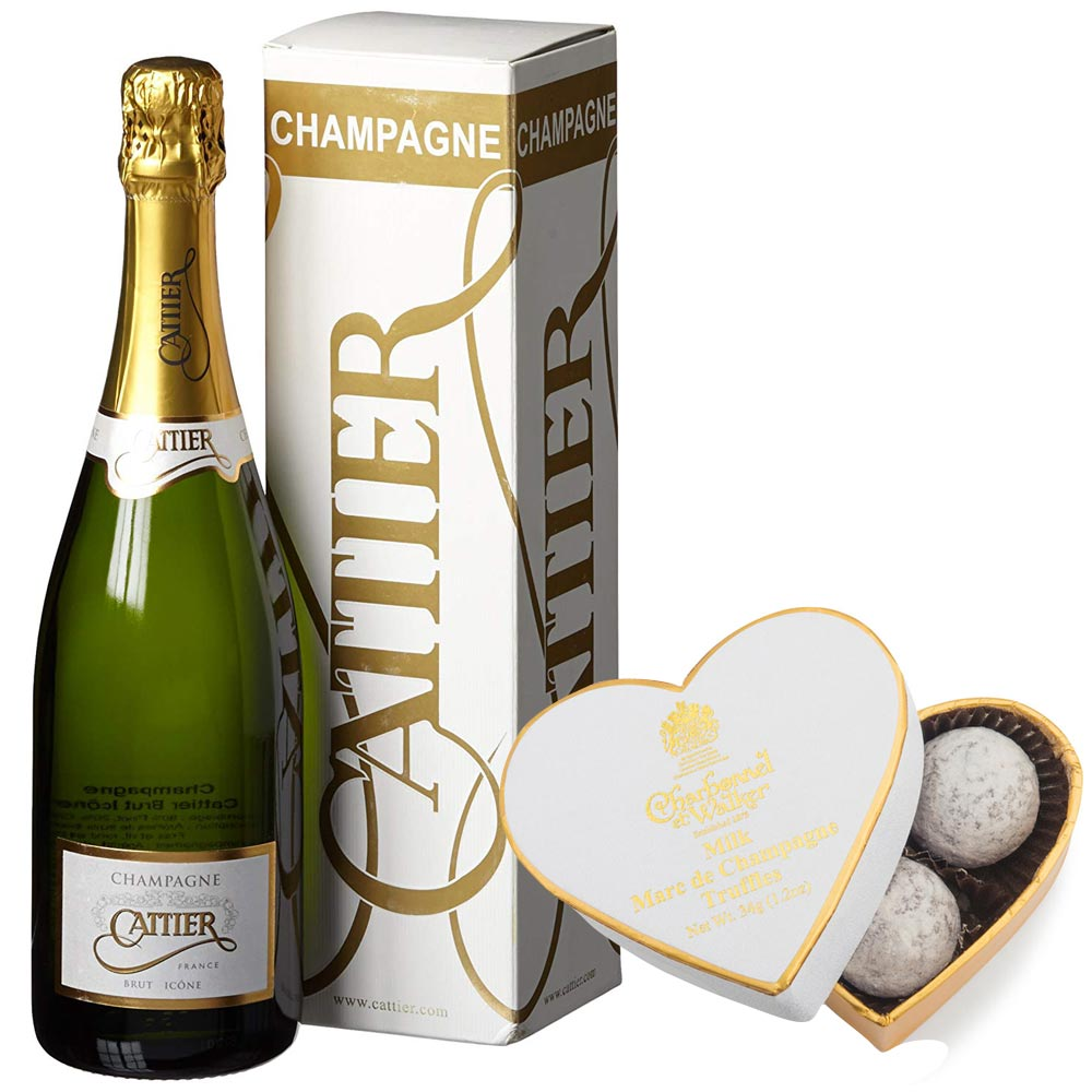 Cattier Icone Brut NV Champagne 75cl & Truffles