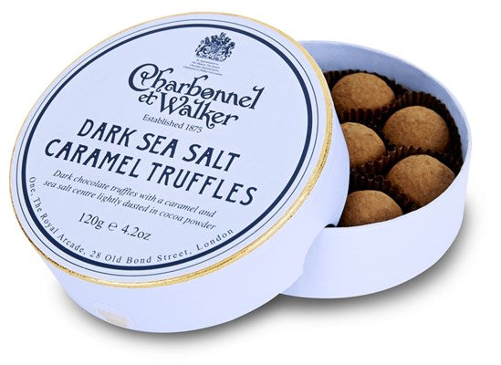 Charbonnel & Walker Dark Sea Salt Caramel Truffles 135g