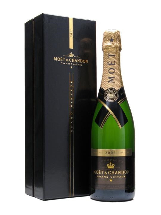Moet and Chandon Grand Vintage 2003 Champagne 75cl in Gift Box