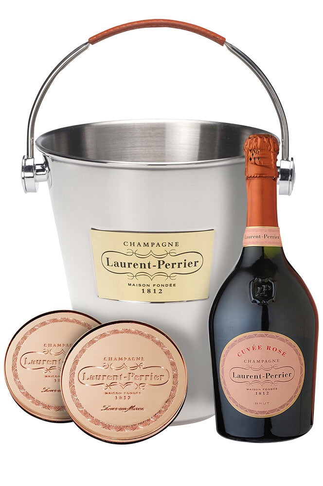 Laurent Perrier Rosé Champagne, Ice Bucket & Champagne Stopper Gift Set