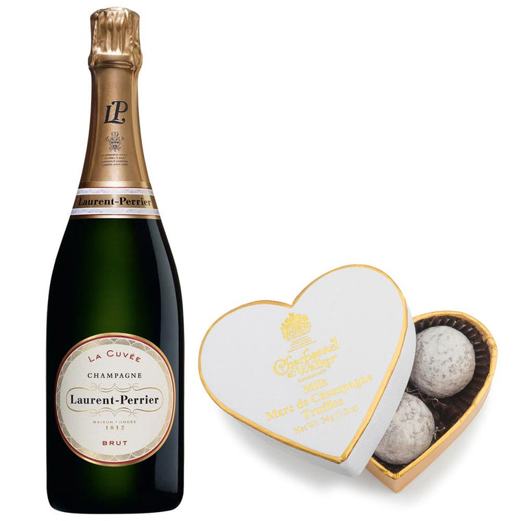 Laurent Perrier Brut Champagne NV 75cl & Milk Chocolate Truffles