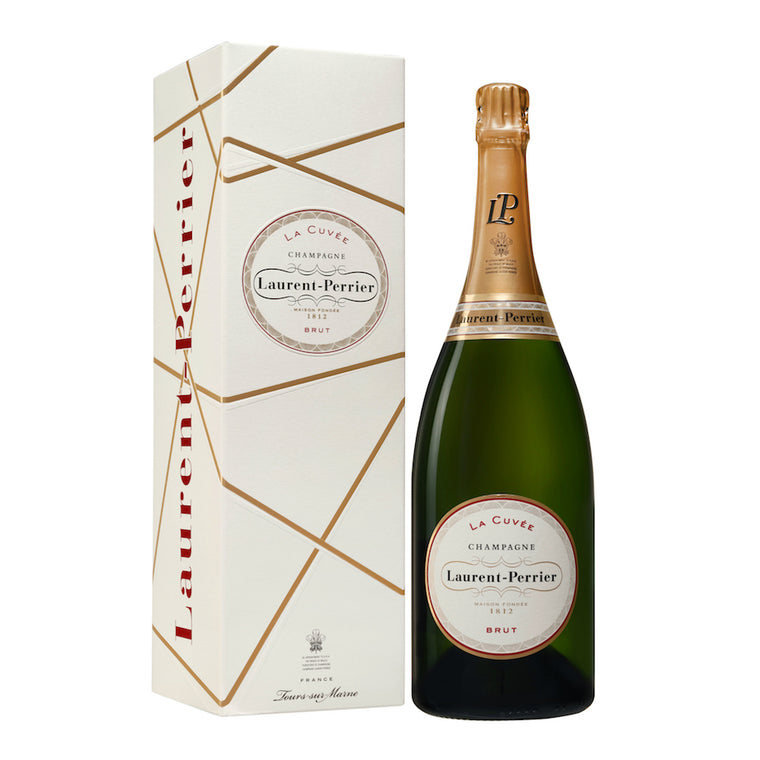Laurent Perrier La Cuvee Brut Champagne in Ribbon Gift Box Magnum 1.5l
