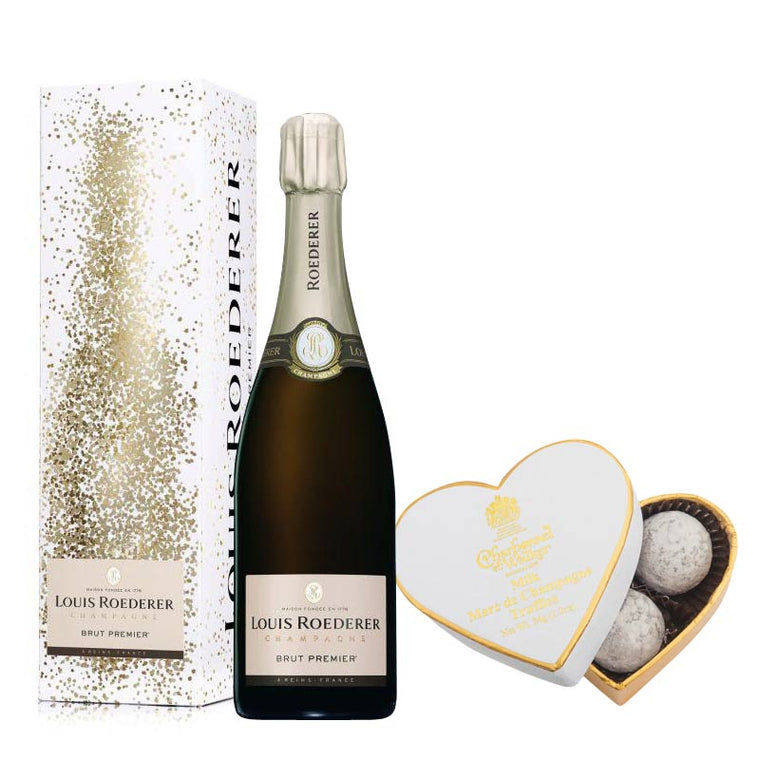Louis Roederer Brut Premier 75cl in Gift Box & Milk Chocolate Truffles