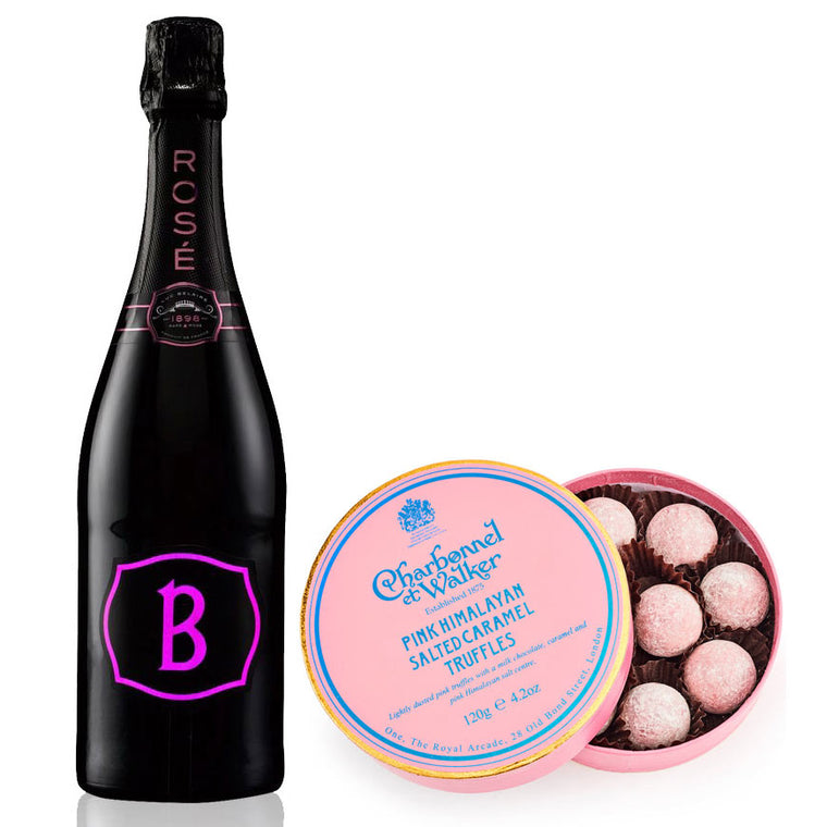 Luc Belaire Ros‎é Fantome 75cl. Sparkling Wine & Pink Himalayan Truffles