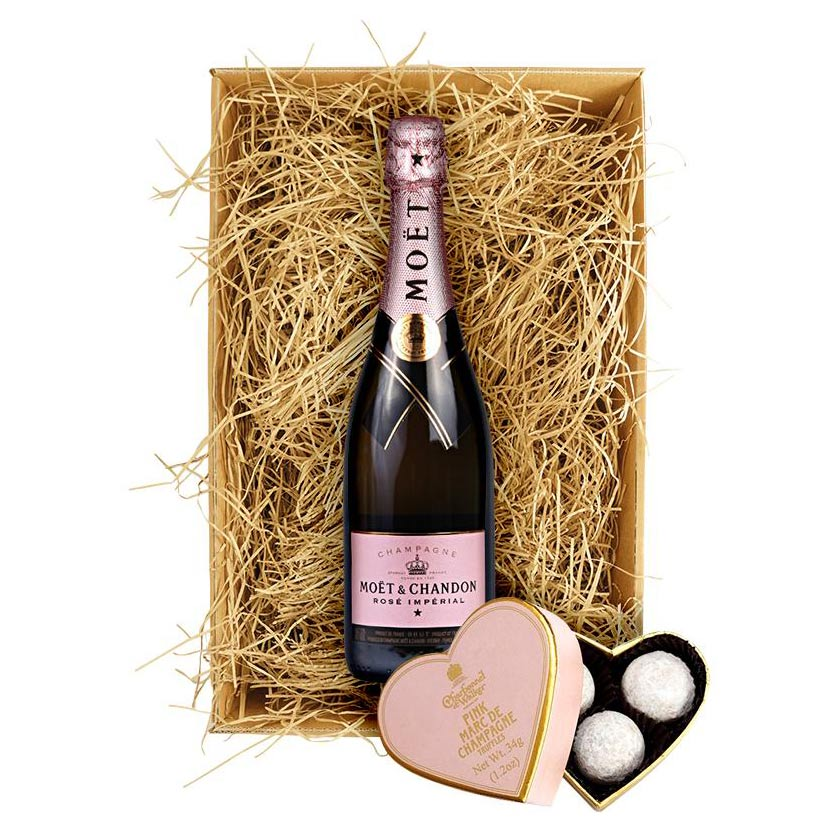 Moet & Chandon Rosé 75cl. & Charbonnel et Walker Truffles