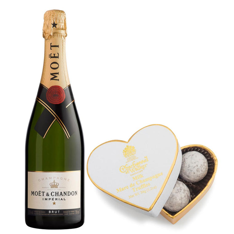Moet and Chandon Brut Imperial 37.5cl & Milk Chocolate Truffles