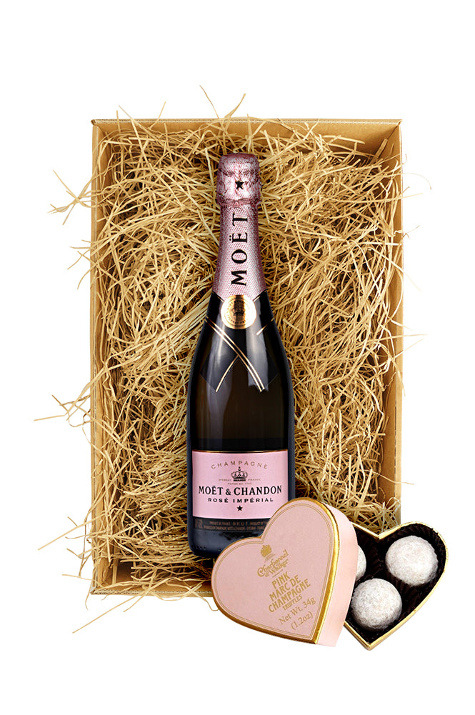 Moet & Chandon Rosé 37.5cl. with Charbonnel & Walker Truffles
