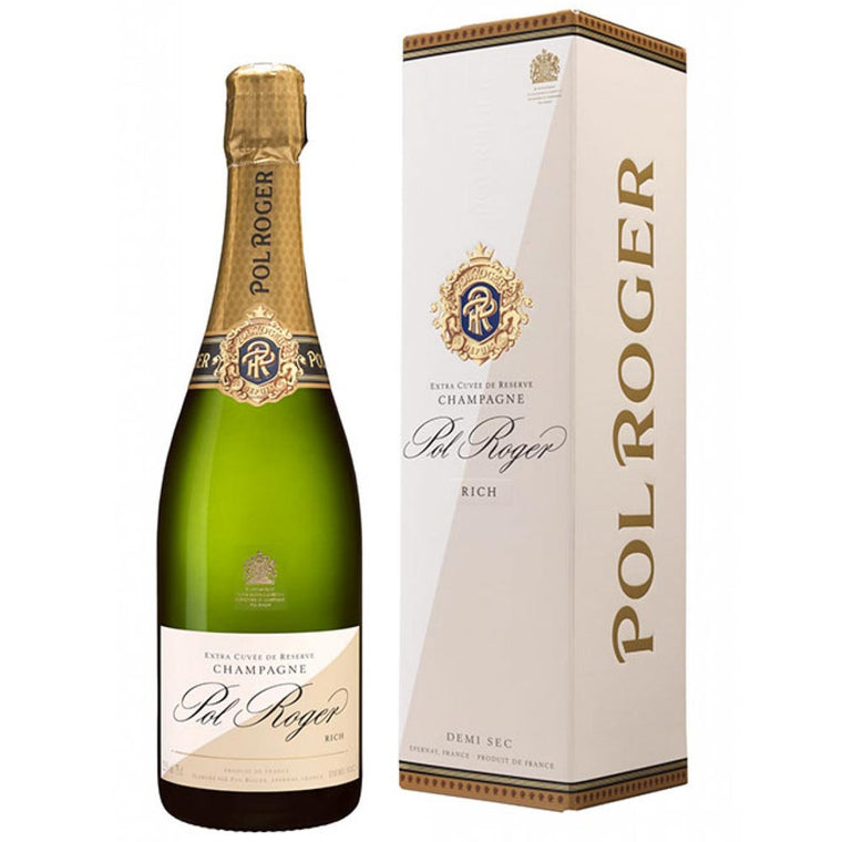 Pol Roger Rich Demi-Sec Champagne 75cl in Gift Box