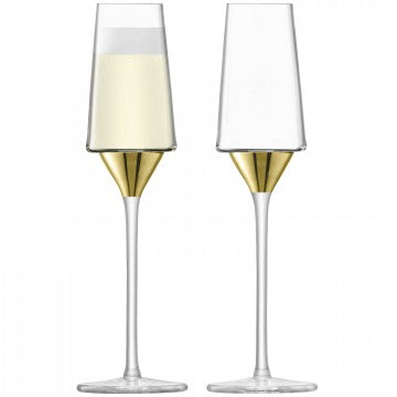 LSA Space Champagne Flutes 210ml