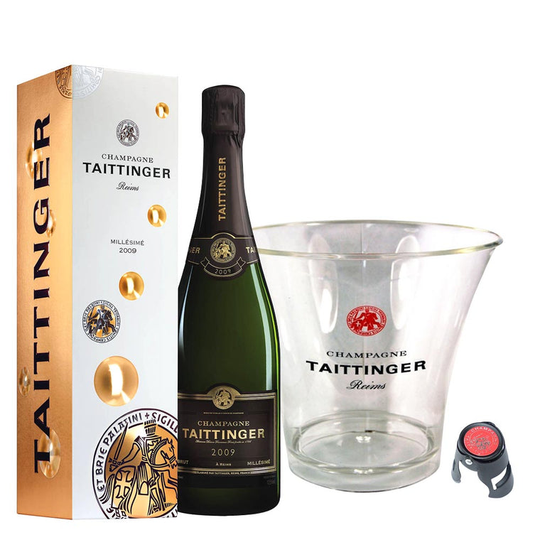 Taittinger Brut Millesime Vintage 2012 75cl, Ice Bucket & Stopper