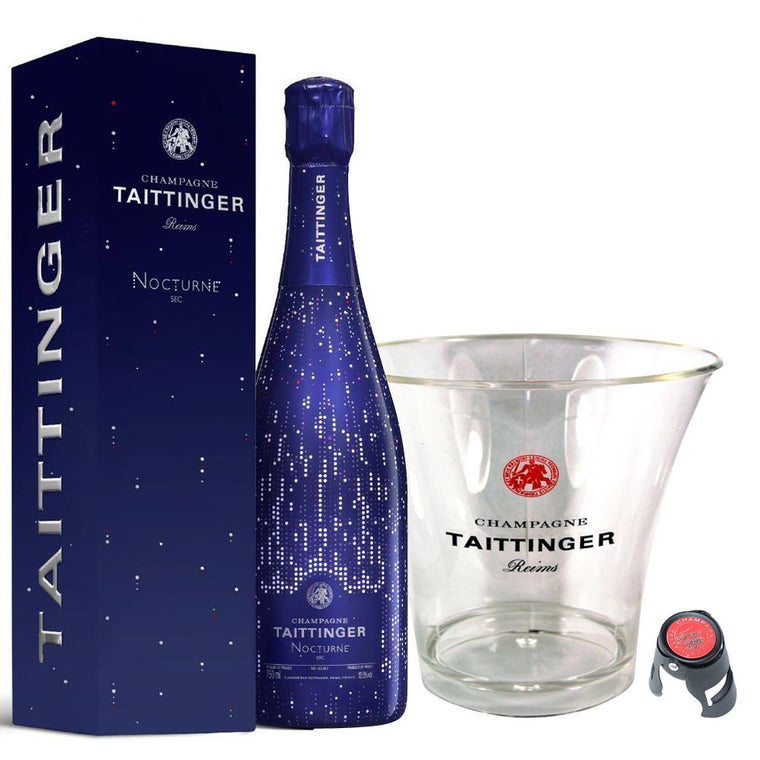 "Taittinger Nocturne Sec ""City Lights"" Edition 75cl in Gift Box, Ice Bucket & Stopper"