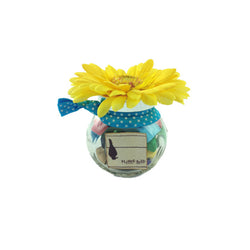 New- Stretchy Hair Ties in Flower Jar