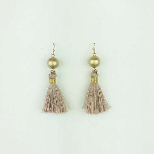 mauve tassel with gold ball