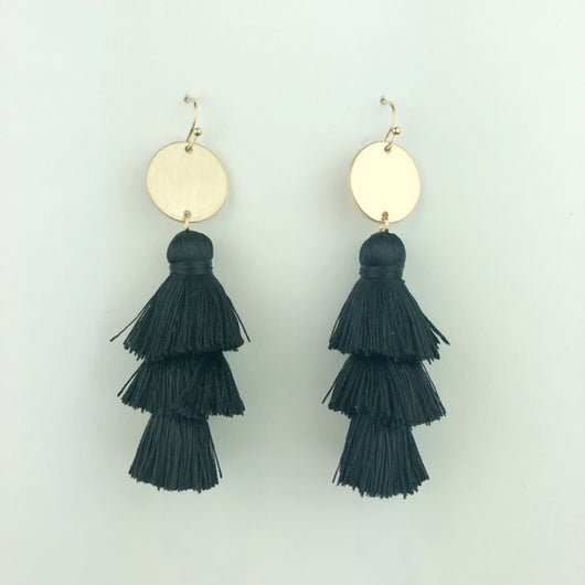black 3 tier tassel