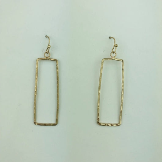 gold hammered rectangle