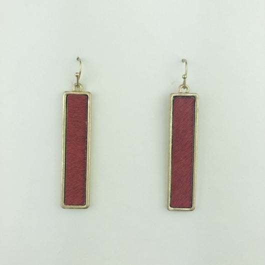 burgundy texture leather rectangle