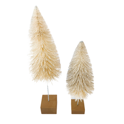 Bottle Brush Trees Large Cream
